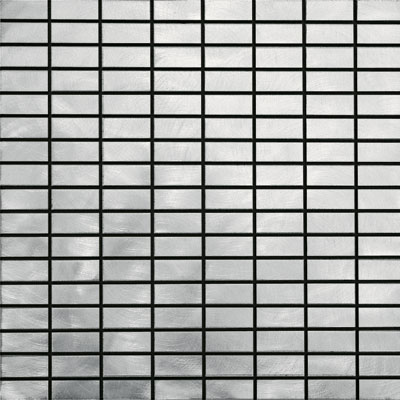Metal Border Pure Metal Brick Mosaic 1 x 2 Graffiato/Brushed MTLMBM314GRAFFIA