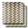 Pure Metal Brick Staggered Mosaic 1 x 2