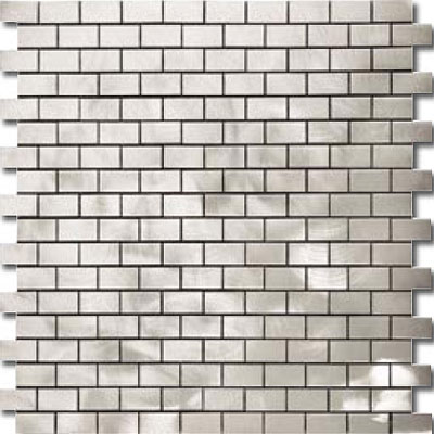 Metal Border Pure Metal Brick Staggered Mosaic 1 x 2 Graffiato/Brushed MTLMBM305GRAFFIA
