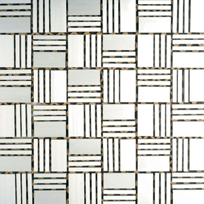 Metal Border Pure Metal Sam Mosaic Satin MTLMBM310SAM
