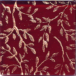 Miila Studios Glass Deco Series - Flora 1 x 12 Red Gold