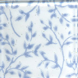 Miila Studios Glass Deco Series - Flora 1 x 12 White Blue