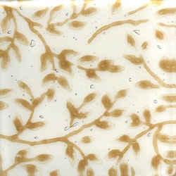 Miila Studios Glass Deco Series - Flora 1 x 12 White Tan
