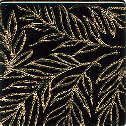 Miila Studios Glass Deco Series - Tropics 1 x 6 Black Gold