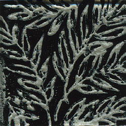 Miila Studios Glass Deco Series - Tropics 2 x 2 Black Pewter