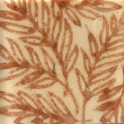 Miila Studios Glass Deco Series - Tropics 2 x 2 Tan Rust