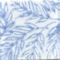 Miila Studios Glass Deco Series - Tropics 1 x 6 White Blue