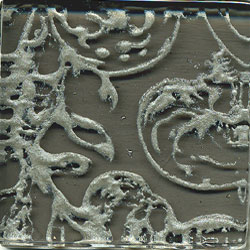 Miila Studios Glass Deco Series - Victorian 1 x 8 Gray Pewter