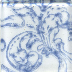 Miila Studios Glass Deco Series - Victorian 2 x 2 White Blue