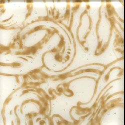 Miila Studios Glass Deco Series - Victorian 2 x 2 White Tan