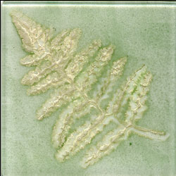 Miila Studios Elements Glass Tile 2 x 2 (Discontinued) Fern1 Green Silver