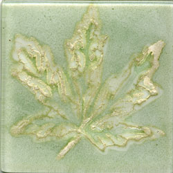 Miila Studios Elements Glass Tile 2 x 2 (Discontinued) Maple Green Silver