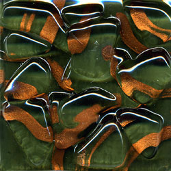 Miila Studios Stony Creek Glass Tile 2 x 8 Evergreen