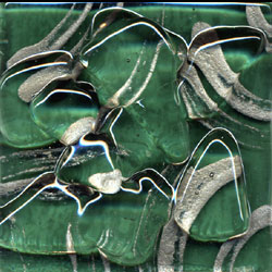 Miila Studios Stony Creek Glass Tile 1 x 8 Ivy