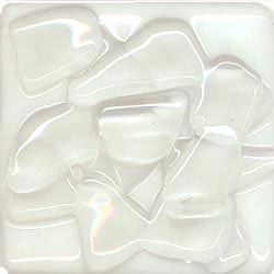 Miila Studios Stony Creek Glass Tile 12 x 12 White Mist