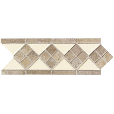 Mohawk Accent Statements - Ceramic (Discontinued) Matte Ivory Lace Diamond Ceramic & Tumbled Stone 5536