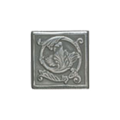 Mohawk Accent Statements - Metals (Discontinued) Vintage Pewter Scrolling Leaf Decorative Insert 5556