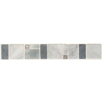 Mohawk Accent Statements - Stone (Discontinued) Grigio Blu Bucaro Decorative Tumbled Border 5344