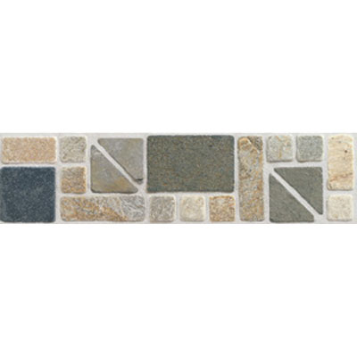 Mohawk Accent Statements - Stone (Discontinued) Gold Multicolor Geometric Slate Border 5489