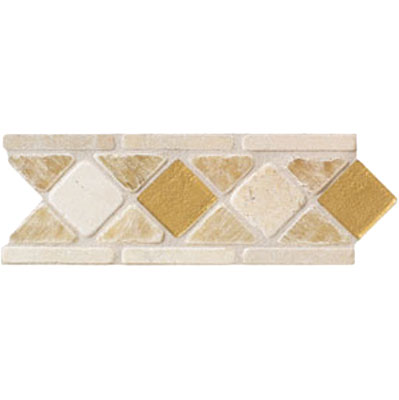 Mohawk Accent Statements - Stone (Discontinued) Onyx Glass Diamond Marble Border 5492