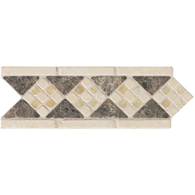 Mohawk Accent Statements - Stone (Discontinued) Emperador Onyx Diamond Marble Border 5493