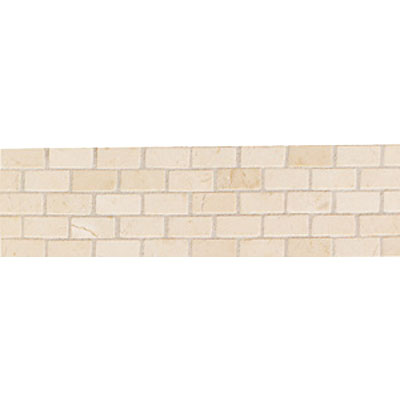 Mohawk Accent Statements - Stone (Discontinued) Crema Marfil Brick Joint Pattern Borader 5495