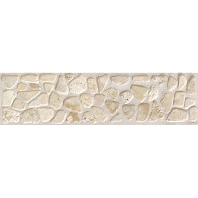 Mohawk Accent Statements - Stone (Discontinued) Baja Cream Pebble Border 5497