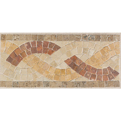 Mohawk Accent Statements - Stone (Discontinued) Sand Walnut Gold Red Basket Weave Border 5499
