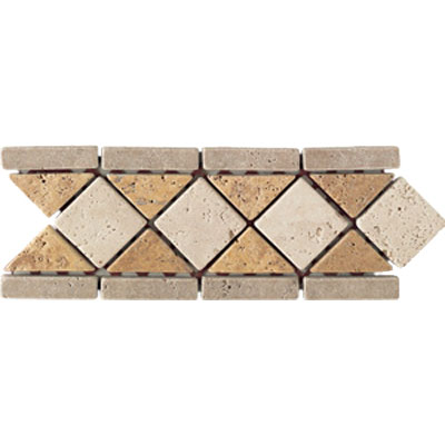 Mohawk Accent Statements - Stone (Discontinued) Gold Beige Walnut Victoria Diamond Border 5500