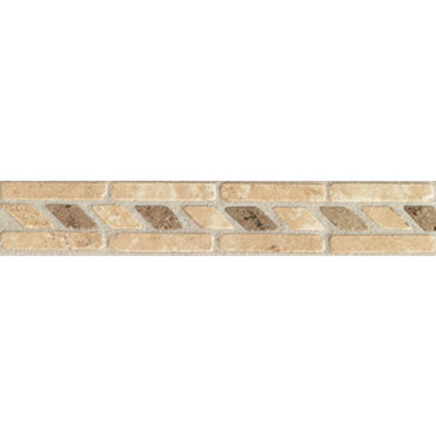 Mohawk Accent Statements - Stone (Discontinued) Mocha Beige Rope Border 5501