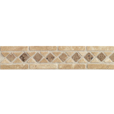Mohawk Accent Statements - Stone (Discontinued) Beige Mocha Diamond Border 5502