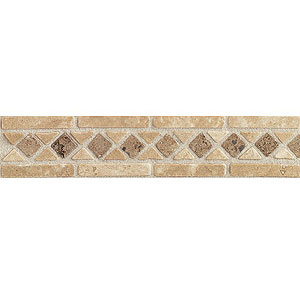 Mohawk Accent Statements - Stone (Discontinued) Sienna/Ivory/Antalya Diamond Decorative Border 6118