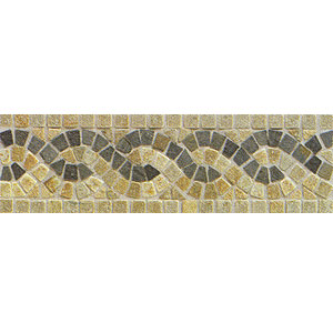 Mohawk Accent Statements - Stone (Discontinued) China Gold Multicolor Serpentine Border 6117