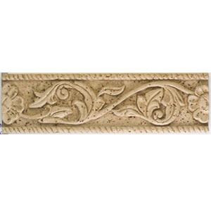 Mohawk Accent Statements - Travertine Resin (Discontinued) Flower Vine Accent Strip 5541