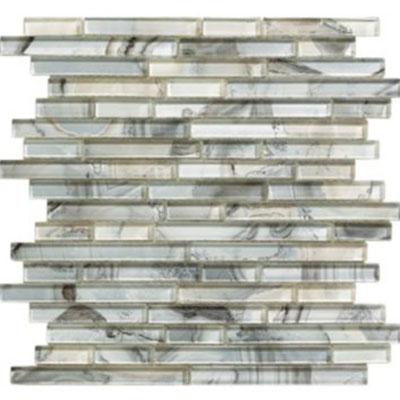 Mohawk Crystal Coves Random Linear Mosaic Grey Shell