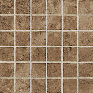 Mohawk Pavin Stone 12 x 12 Mosaic Brown Suede 13790