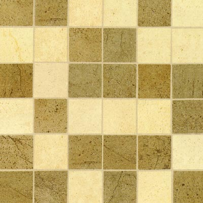 Mohawk Sardara Mosaic Fortress Cream/Island Brown 6647
