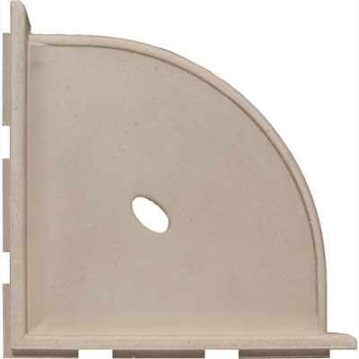 Questech Portico Bath Accessories Travertine Corner Shelf 10 Inch SBA102-01