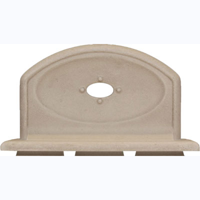 Questech Portico Bath Accessories Travertine Soap Tub 8 Inch SBA103-01