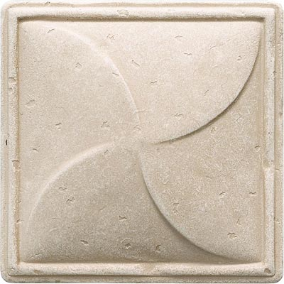 Questech Dorset Classics - Travertine Pinwheel Deco QUES1D13101