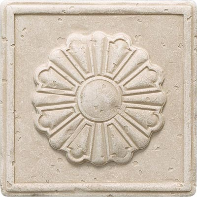 Questech Dorset Classics - Travertine Rosette Deco QUES1D13201