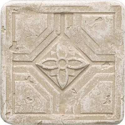 Questech Dorset Floor Accents - Travertine Coventry Dot QUES1D13601