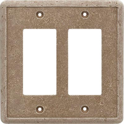 Questech Dorset Switch Plates - Noche Double GFCI QUESW10502