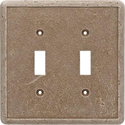 Questech Dorset Switch Plates - Noche Double Toggle QUESW10402