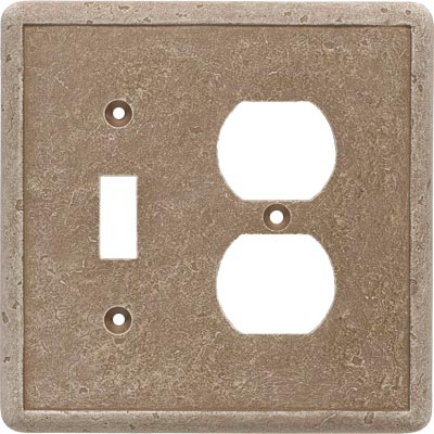 Questech Dorset Switch Plates - Noche Toggle Duplex Combo QUESW10802