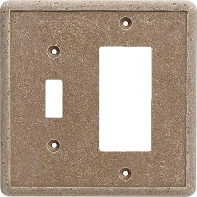 Questech Dorset Switch Plates - Noche Toggle GFCI Combo QUESW10902