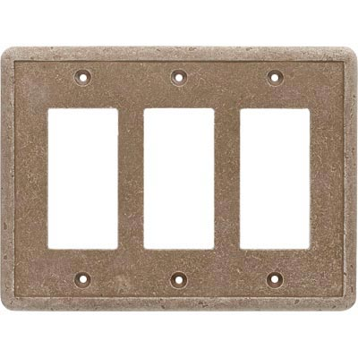 Questech Dorset Switch Plates - Noche Triple GFCI QUESW10702