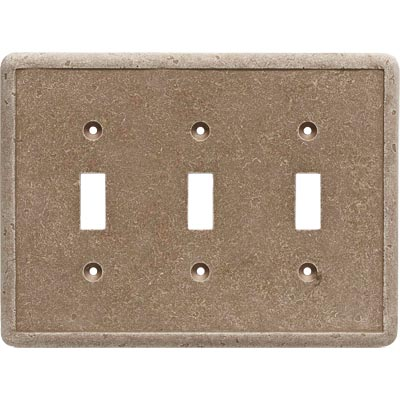 Questech Dorset Switch Plates - Noche Triple Toggle QUESW10602