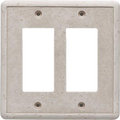 Questech Dorset Switch Plates - Travertine Double GFCI QUESW10501