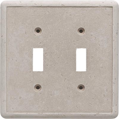 Questech Dorset Switch Plates - Travertine Double Toggle QUESW10401
